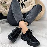 Тільки 39 р! Кросівки жіночі чорні текстиль + силікон/ гума весна-літо-осінь, фото 3