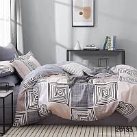 Хлопковый двуспальный комплект постельного белья , арт 20133