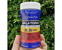 Мелатонин для сна Puritan's Pride Melatonin 2.5 mg 60 жевательных конфет клубника