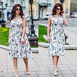 Женское летнее платье супер софт принт размер: 48-50, 52-54, фото 5