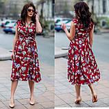Женское летнее платье супер софт принт размер: 48-50, 52-54, фото 8