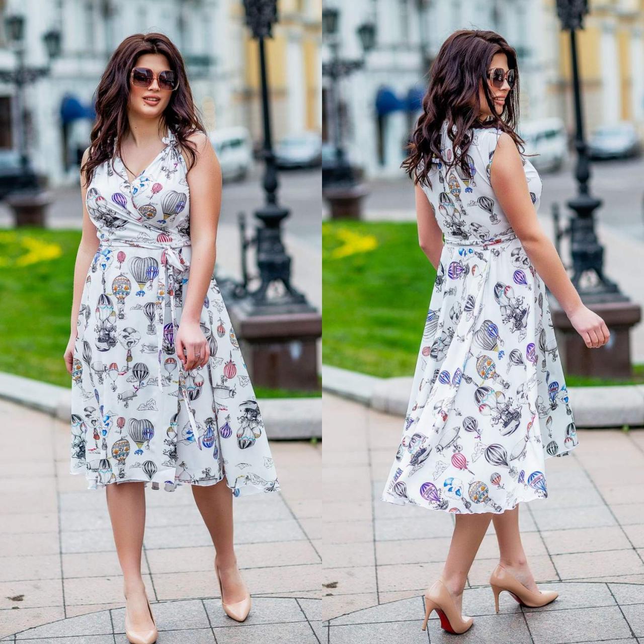 Женское летнее платье супер софт принт размер: 48-50, 52-54