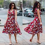 Женское летнее платье супер софт принт размер: 48-50, 52-54, фото 3