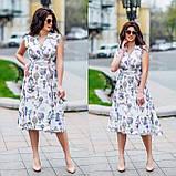 Женское летнее платье супер софт принт размер: 48-50, 52-54, фото 4