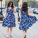 Женское летнее платье супер софт принт размер: 48-50, 52-54, фото 2
