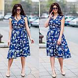 Женское летнее платье супер софт принт размер: 48-50, 52-54, фото 10