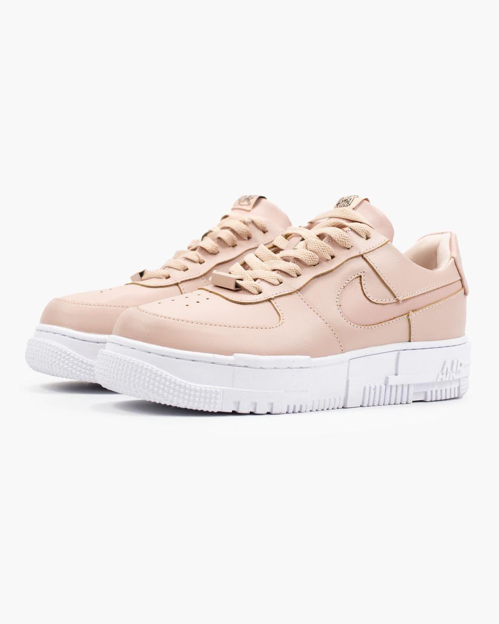 Женские розовые Кроссовки Nike Air Force Pixel