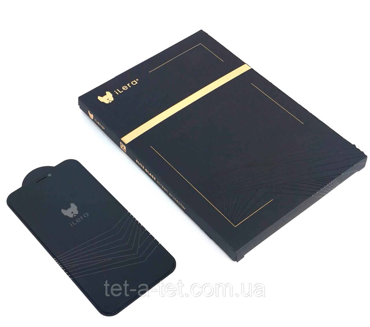 Защитное стекло с рамкой iLera Deluxe Armor Glass iPhone 12 (6.1)
