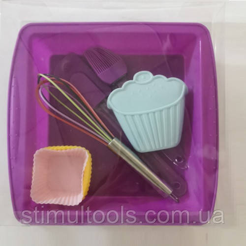 """Набор для выпечки силиконовый Stenson """"Square"""" (11 предметов)"""