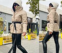 Эко кожа Женская куртка Черная молочная беж