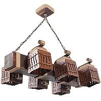 Люстра подвесная 6 плафонов Е14 серии MINI шуба 163316