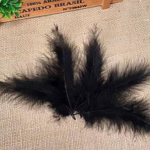 Перья  марабу 8-10 см, черные (5 шт)