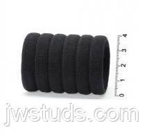 Гумки для волосся мікрофібра безшовні чорні 7 шт