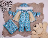 Комбинезон тройка детский голубой SKL11-260912