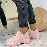 Кроссовки женские розовые эко-кожа, фото 8