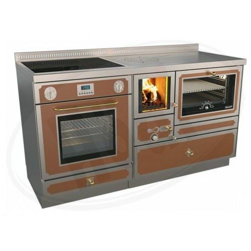 Печь камин варочные Rizzoli RVE 140 combi (дрова, газ электричество)