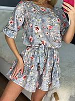 Романтичное мини платье с рукавами до локтя, фото 1