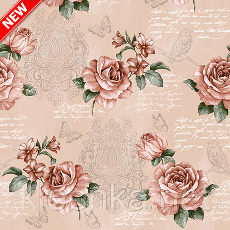 Клеенчатая скатерть Розы на кухонный стол