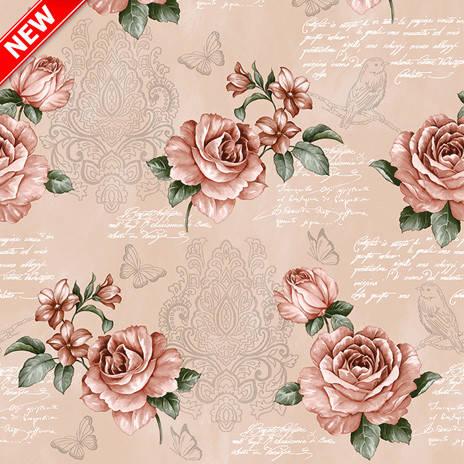 Клеенчатая скатерть Розы на кухонный стол, фото 2