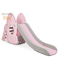 Детская горка Bambi L-HJ01-8 (pink)