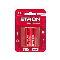 Батарейка ETRON Mega Power АА-LR6 Blister Alkaline 2 шт