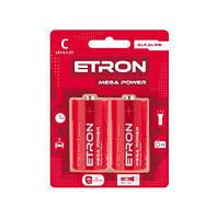 Батарейка ETRON Power Mega З-LR14 Blister Alkaline 2 шт