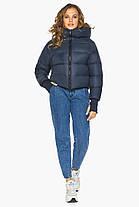 Куртка свободного фасона женская темно-синяя модель 26420, фото 2