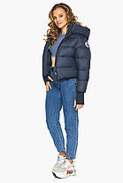 Куртка свободного фасона женская темно-синяя модель 26420, фото 3