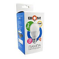 Світлодіодна лампа BIOM BT-520 А80 20W E27 4500K (Груша)