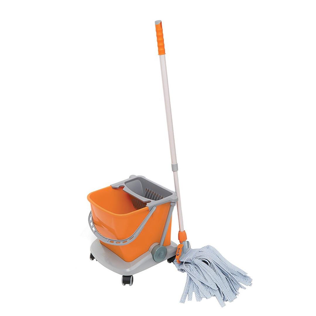 Візок-відро для прибирання приміщень одноведерная з віджиманням 25л. Універсальна для клінінгу маленьких