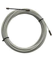 Устройство для протяжки кабеля, УЗК, протяжка стальная в нейлоновой оболочке, протяжка кабельная, 3мм 15 м