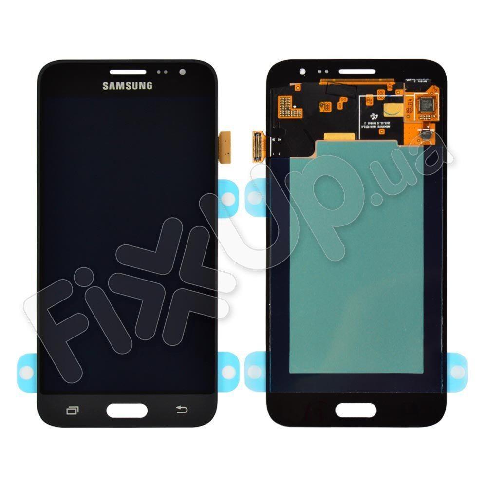 Дисплей для Samsung J320H Galaxy J3 (2016) з тачскріном в зборі, колір чорний, Original Change Glass,