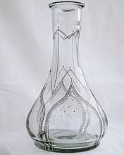 >>Колба для кальяна 2x2 Дроп (Drop) прозрачная красивая дизайнерская роспись