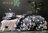 """Комплект постельного белья ТМ """"Тет-А-Тет"""" Ранфорс (ренфорс) """"869"""" евро размер"""