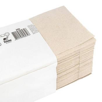 Полотенца бумажные макулатурные, V-сложения, серый, 200 шт.(ALB104)