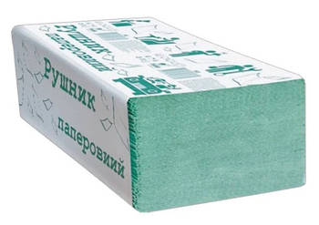 Полотенца бумажные макулатурные, V-сложения, зеленый, 200 шт.(ALB036)