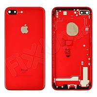 Корпус для iPhone 7 Plus (5.5), цвет красный, оригинал