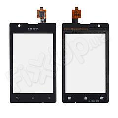 Тачскрін Sony C1605, C1502, C1503, C1504, C1505, C1604, колір чорний