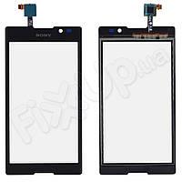 Тачскрін Sony Xperia C C2305 (S39h), колір чорний, копія високої якості