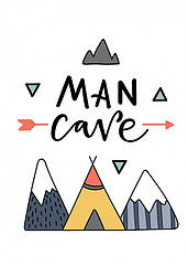 Постер в рамке Man Cave 30х40 см