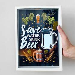 Копилка для пивных крышек Береги природу, пей пиво