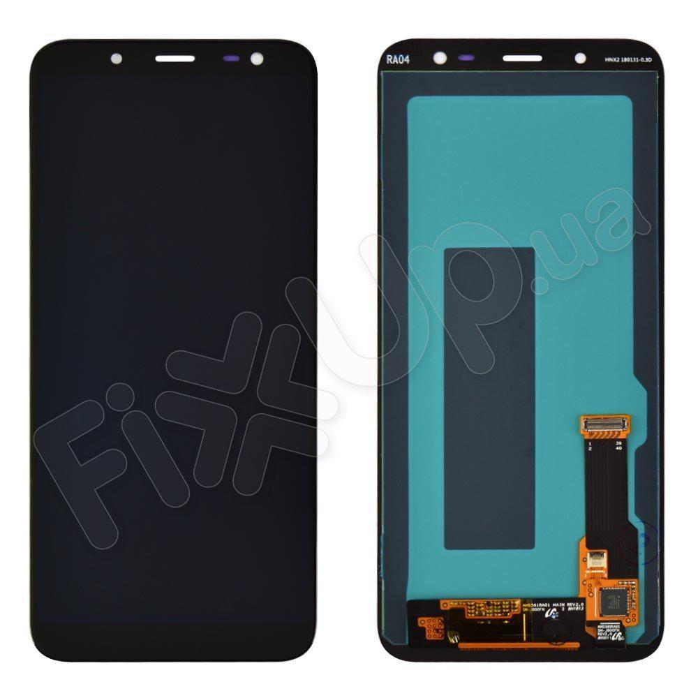 Дисплей для Samsung J600H/DS Galaxy J6 (2018) с тачскрином в сборе, цвет черный, Original Change Glass