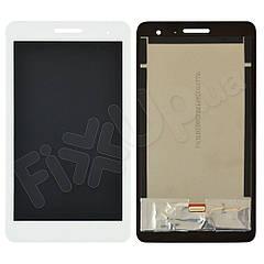 """Дисплей для Huawei T1 7.0"""" 3G MediaPad (T1-701) з тачскріном в зборі, колір білий, копія високої якості"""