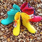 Гумові чоботи з піни, р 37, Сині чоботи на сльоту і дощ, фото 9