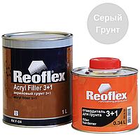 Грунт Акриловый Серый REOFLEX Acryl Filler 3+1 RX F-04 0,5л с Отвердителем 0,17л