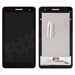 """Дисплей Huawei T1 7.0"""" 3G MediaPad з тачскріном в зборі, колір чорний, копія високої якості"""
