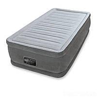 Надувная кровать Intex 64412, 99 х 191 х 46 см, встроеный электронасос. Односпальная