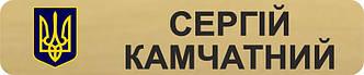 Бейдж металлический золотой с гербом Украины бирка для полиции на булавке или магните