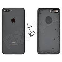 Корпус iPhone 7 Plus (5.5), цвет матовый черный, оригинал