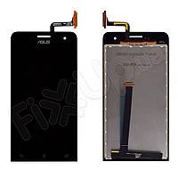 Дисплей Asus ZenFone 5 (A500CG, A500KL, A501CG)  с тачскрином в сборе, цвет черный